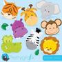 Kit Scrapbook Digital Animais Baby Imagens Clipart Cod 5