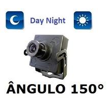 Mini Camera Ccd 1/3 Sony 500linhas Lente 1,9mm Angulo 150°