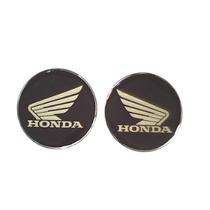 Kit 2 Logos Asa Honda Vinil Aço Escovado Prateado Resinado