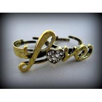 Anel Duplo Love - Vintage Bijux - Importado