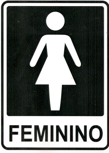 Ps5 Placa Banheiro Feminino E Masculino 2 Placas Pvc  R$ 14,90 em Mercado Livre -> Diarreia Banheiro Feminino
