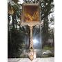 Antigo Espelho Francês Bronze E Madeira #2395