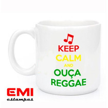 Canecas Engraçadas Keep Calm And Ouça Reggae 1951