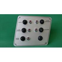 Painel Aluminio 5 Funções Bomba De Porão Luminárias Buzina