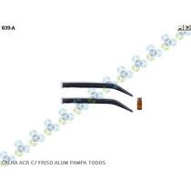 Calha Chuva Acrilica C/ Friso Aluminio Pampa Todos