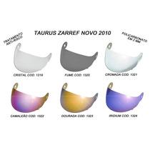 Viseira Zarref N Espelhada Prata Taurus Modelo Novo