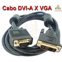 Cabo Monitor Dvi-a X Vga Tv Lcd Plasma 1,80 Metros C/filtro