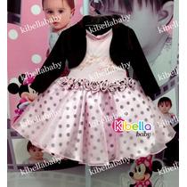 Vestido Infantil Bailarina Com Bolero Tam: 1 Ao 4