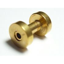Piercing Orelha Alargador Aço Gold Dourado 2.0 Frete Grátis