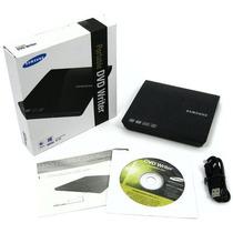 Gravador Dvd Samsung Externo Ultra Slim Preto 8x Se208gbrs