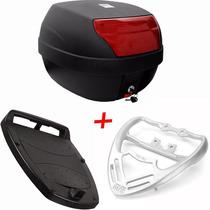 Bau Moto 28 Litros + Bagageiro Completo Fan 150 2009 A 2013