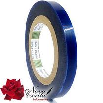 Fita Blue Tape 100 Mts 13mm X 100m ( Vinil - Plastico Azul )