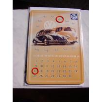 Vw Calendário 14,5 X 10,5 Cms Fusca Alemão Oval Bug Barndoor