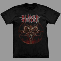 Camiseta Slayer Pentagram Skull!!estampa Exclusiva!!
