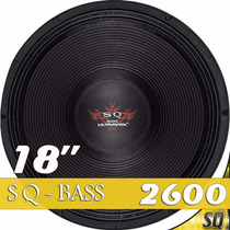 Alto Falante Woofer 18 Ultravox Sound Quality Bass 2600 4/8