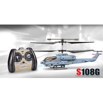 Helicoptero Militar Super Cobra R/c S108g 3 Canais C/ Gyro