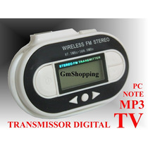 Kit Transmissor Para Tv Digital Note Pc Mp3 Iphone Dvd Mp4