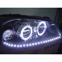 Farol Gm Astra 2003/2011 Mascara Angel Eyes Tira De Led´s
