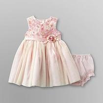 Vestido Infantil De Festa Rosa E Amarelo - Tamanho 3
