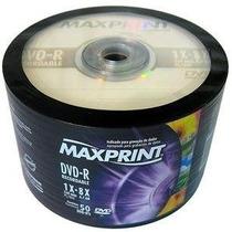 100 Midia Dvd-r Virgem Maxprint C/logo 4.7gb Lacrado