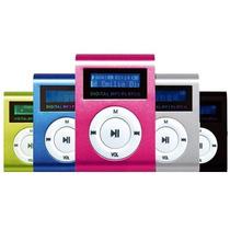 Mini Mp3 Player Rádio Fm Cartão Até 8gb Lcd Clip Frete Fixo