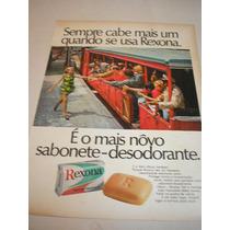 ( L - 290 ) Propaganda Antiga Sabonete Rexona