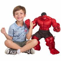Boneco Hulk Vermelho Premium Gigante 55cm Articulado - Mimo