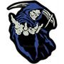 Bordado Ceifador Caveira Morte Patch Moto Skull Azul Car253