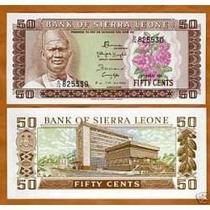 Serra Leoa 50 Cents 1974 P. 4b Fe Cédula Belíssima