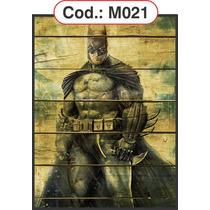 Quadros Grande Em Madeira Batman Hulk Thor Homem Aranha