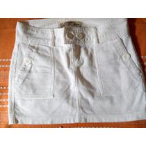 Linda Mini-saia Shop126 Off White Veludo Cotelê