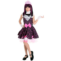 Fantasia Monster High Rosa - Draculaura