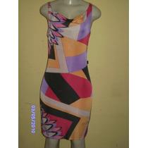 Vn041 - Vestido Estampado Com Diversos Tons