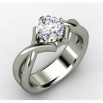.belo Solitário Em Ouro 18k/750,e Diamante De 50 Pontos.