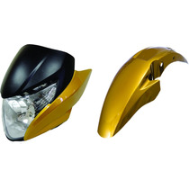 Carenagem+laterais+paralama Titan 150 Amarelo Perol. 2011
