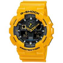 Relógio Casio G-shock Ga-100a-9 Wr200 5 Alarmes H.mundial Am