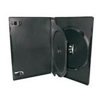 Box Triplo Padrão Dvd Preto Estojo P/ Dvd 50 Unid