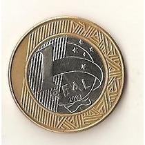 1795 - Brasil 1 Real 2002 - Esfinge Olhando P/ Cima