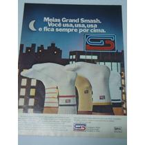 Propaganda Antiga * Meias Grand Smash Oficial Cbt Lycra-1982