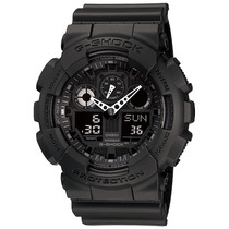 Relógio Casio G-shock Ga-100 Wr-200 5 Alarmes Hora Mundial B