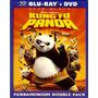 Kung Fu Panda Combo Blu Ray + Dvd Lacrado + Com Luva
