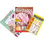 Kit De 3 Revistas - Bordados Roupas Para Bebe E Infantil