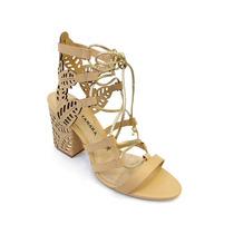 Sandália Tanara Gladiadora Bege / Dourada - N7801