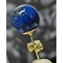 Hs Pedras - Par Brincos Lapis Lazuli E Ouro 18kts Códb142b89
