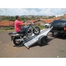 Carreta Reboque Basculante Para Uma Moto - Bravo Carretas