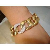 Ivi1388=vivara! Pulseira Grumet O.amarelo 18k ,diamantes !!!