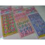 Letras Sortidos Cartela Adesivo Stickers C/ 12 Cartelas