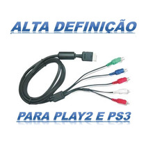 Cabo Video Componente P/ Ps2/ps3 Jogue Em High Definition Hd