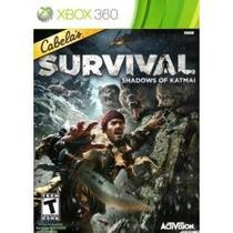 Jogo Ntsc Cabela`s Survival Shadows Of Katmai Para Xbox 360