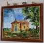 Quadro Igreja Rural - Pintura Sobre Madeira